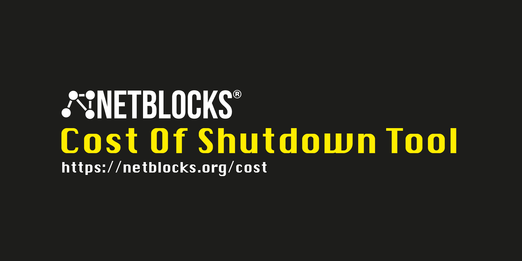 COST: The Cost of Shutdown Tool - NetBlocks