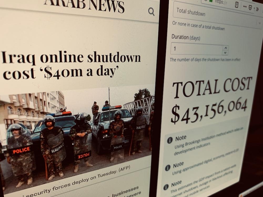 COST: The Cost of Shutdown Tool - NetBlocks